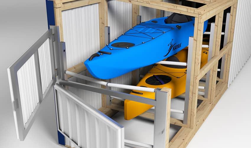 Kayak Storage Locker.